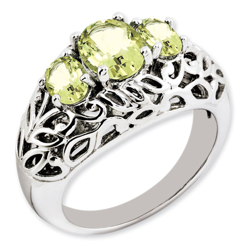 1.1 ct Sterling Silver Lemon Quartz Ring
