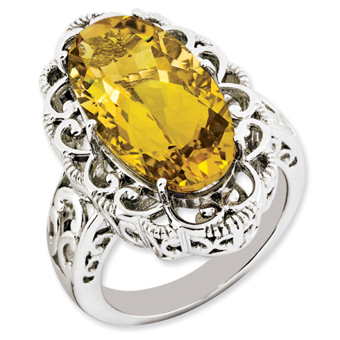 12 ct Sterling Silver Citrine Ring