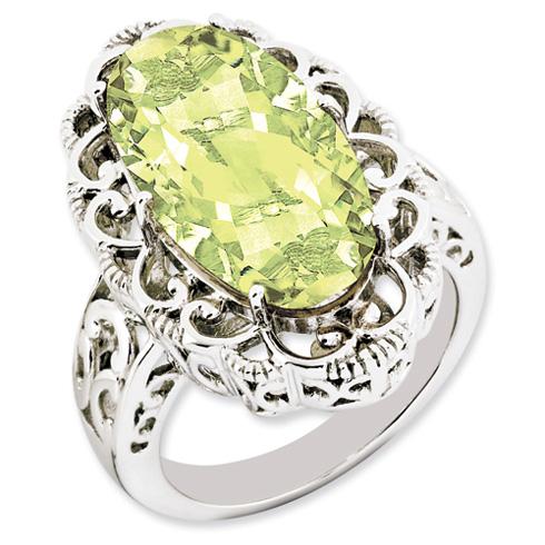 12 ct Sterling Silver Lemon Quartz Ring
