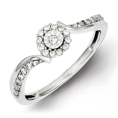 Sterling Silver 1/5ct Diamond Promise Ring