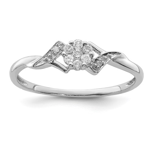 Sterling Silver 1/8 ct Diamond Promise Ring