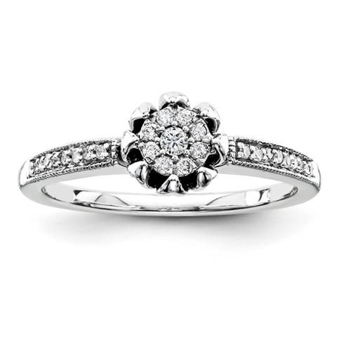 1/6ct Diamond Promise Ring