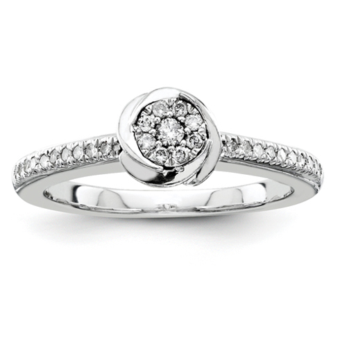 1/5ct Diamond Swirl Promise Ring