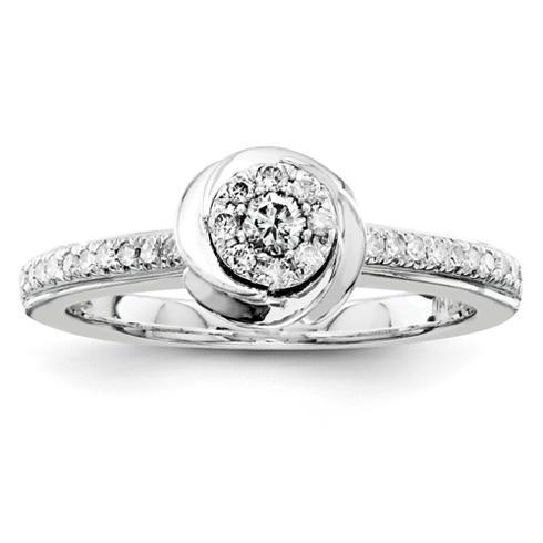 1/4ct Diamond Swirl Promise Ring