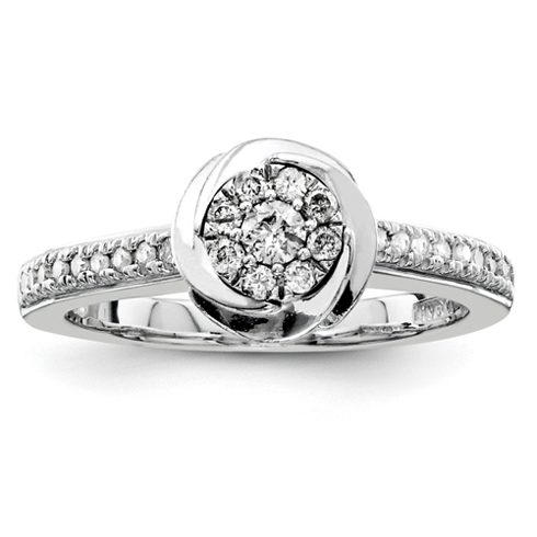 1/3ct Diamond Swirl Promise Ring