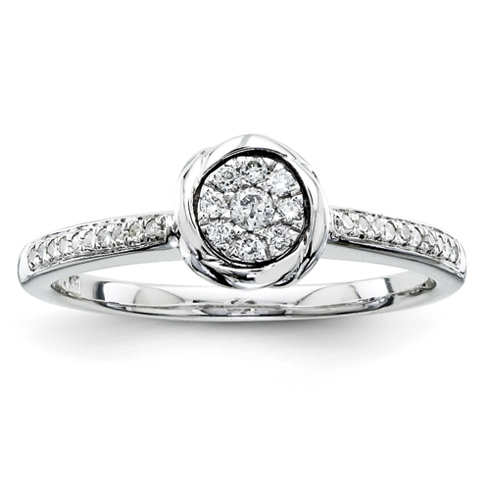 1/6ct Diamond Bezel Promise Ring