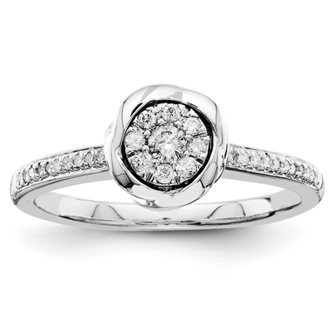 1/5ct Diamond Bezel Promise Ring