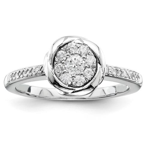 1/4ct Diamond Bezel Promise Ring