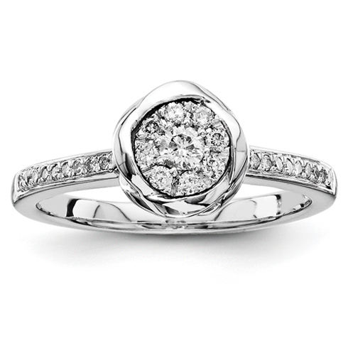 1/3ct Diamond Bezel Promise Ring