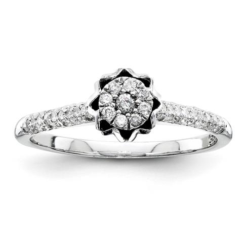 1/4ct Diamond Crown Promise Ring