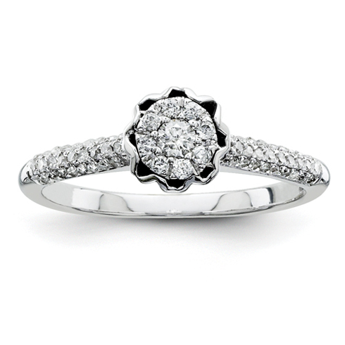 1/3ct Diamond Crown Promise Ring