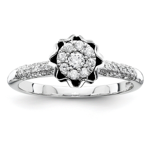 3/8ct Diamond Crown Promise Ring
