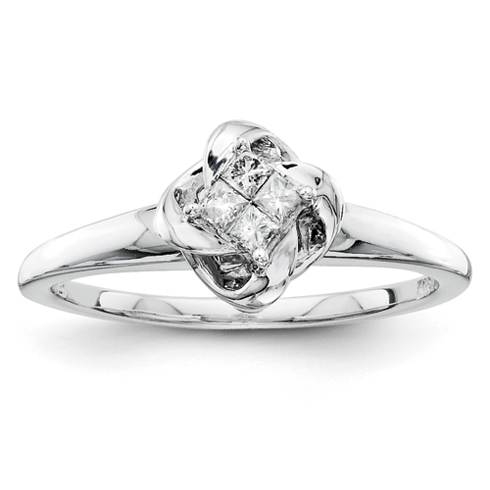 1/6ct Princess Diamond Promise Ring