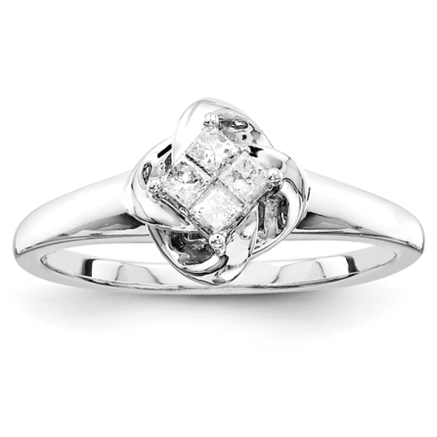 1/5ct Princess Diamond Promise Ring