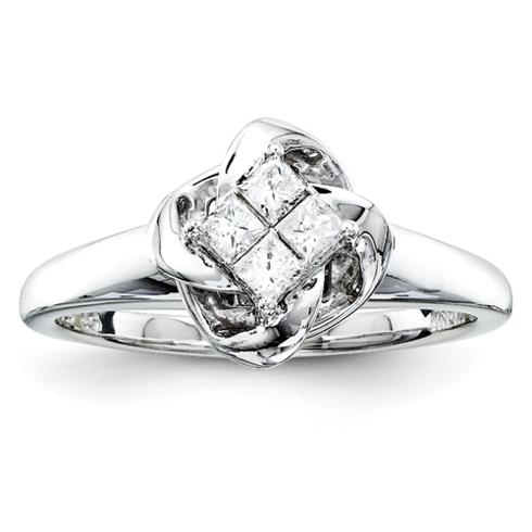 1/4ct Princess Diamond Promise Ring