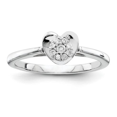 1/10ct Diamond Heart Promise Ring