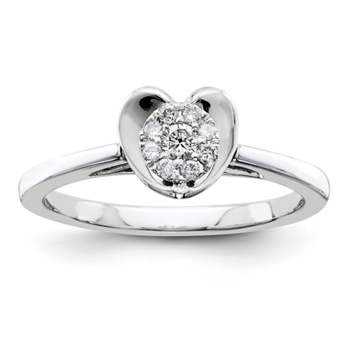 1/6ct Diamond Heart Promise Ring