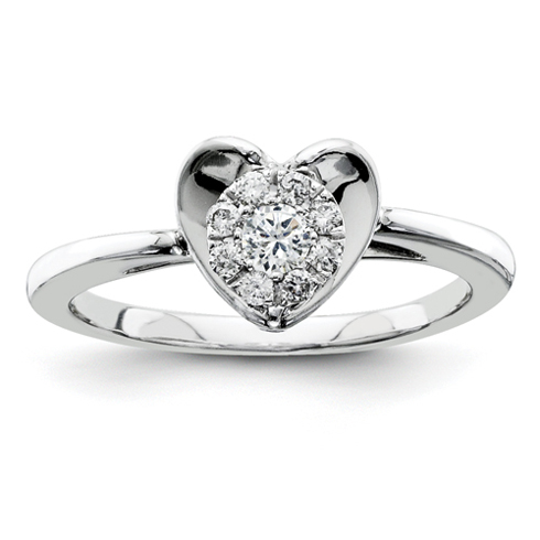 1/5ct Diamond Heart Promise Ring