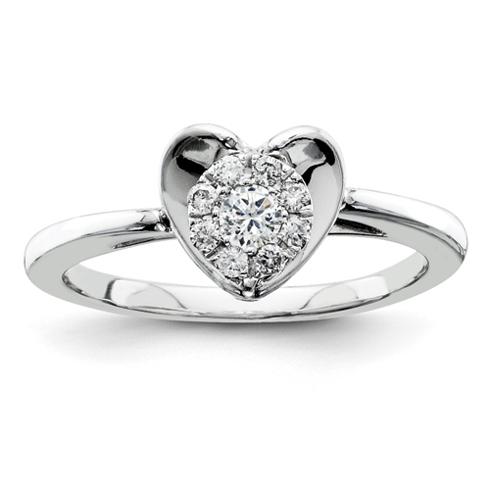 1/5ct Diamond Heart Promise Ring