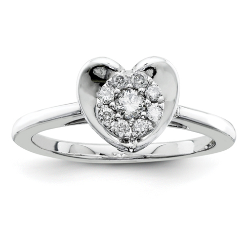 1/4ct Diamond Heart Promise Ring