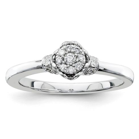 1/6ct Diamond Open Heart Promise Ring