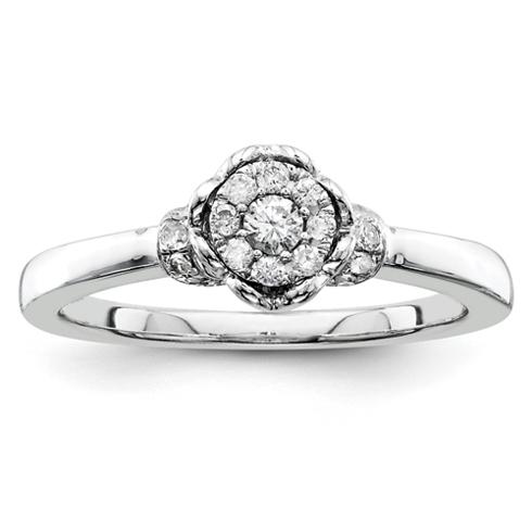 1/5ct Diamond Open Heart Promise Ring