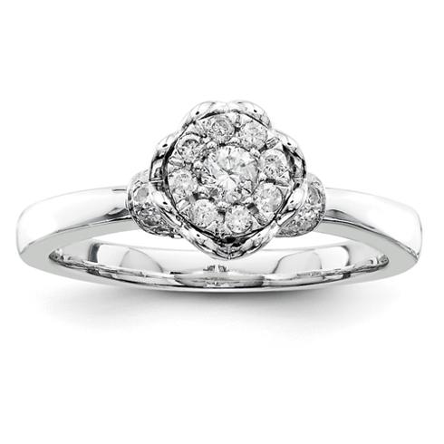 1/4ct Diamond Open Heart Promise Ring