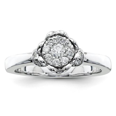 1/3ct Diamond Open Heart Promise Ring