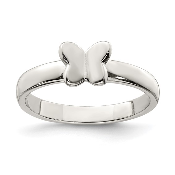 Sterling Silver Child's Classic Butterfly Ring