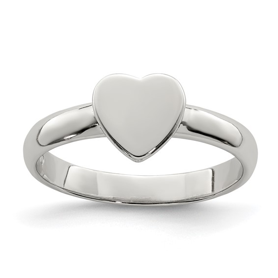 Sterling Silver Child's Classic Heart Ring
