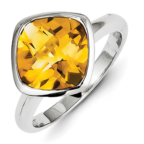 Sterling Silver 3.63 ct Citrine Ring