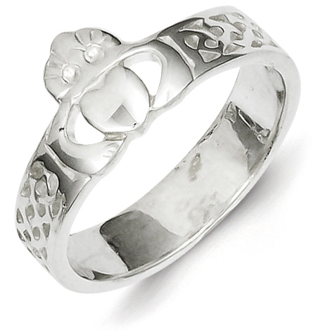 Size 8 Sterling Silver Claddagh Ring