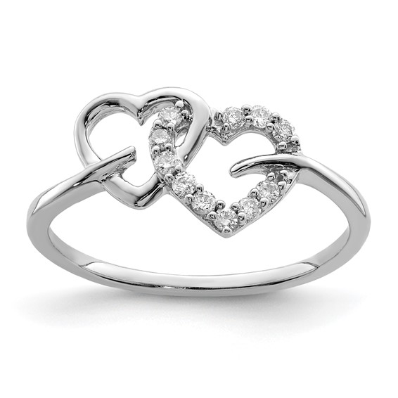 1/8ct Diamond Heart Promise Ring
