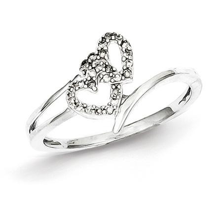 1/10ct Diamond Double Heart Promise Ring