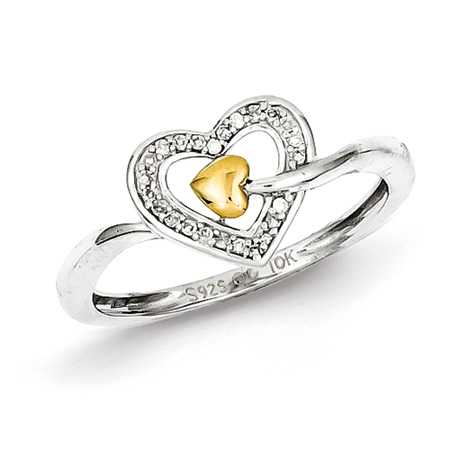 Diamond 14kt Gold Plated Promise Ring