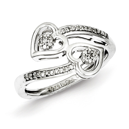 1/8ct Diamond Hearts Promise Ring