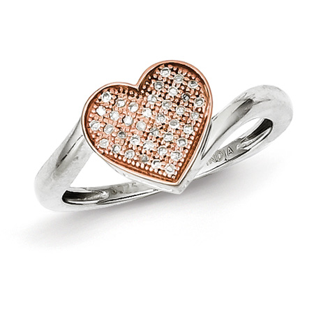 14kt Rose Gold Plated 1/10ct Diamond Promise Ring