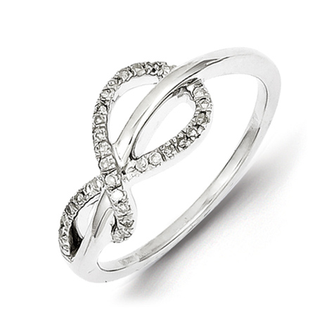 Sterling Silver 1/6 ct Diamond Infinity Ring