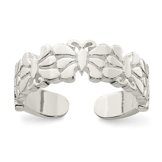Sterling Silver Butterflies Toe Ring
