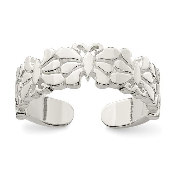 Sterling Silver Butterflies Toe Ring