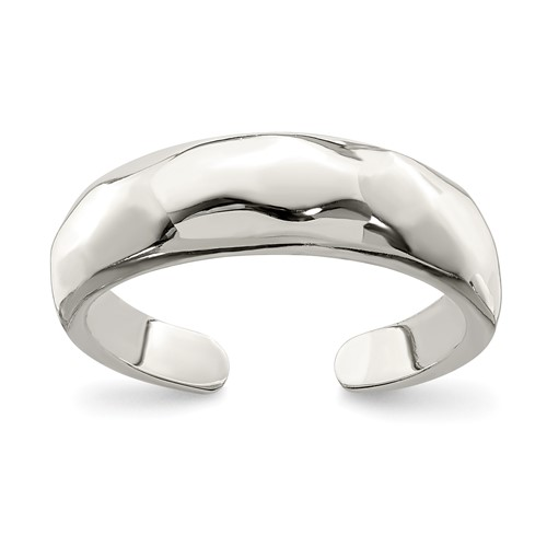 Sterling Silver Solid Domed Toe Ring