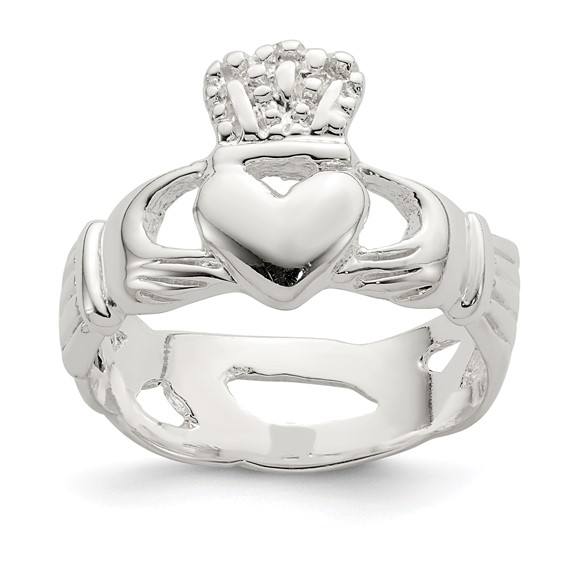 Claddagh Ring Size 8 - Sterling Silver