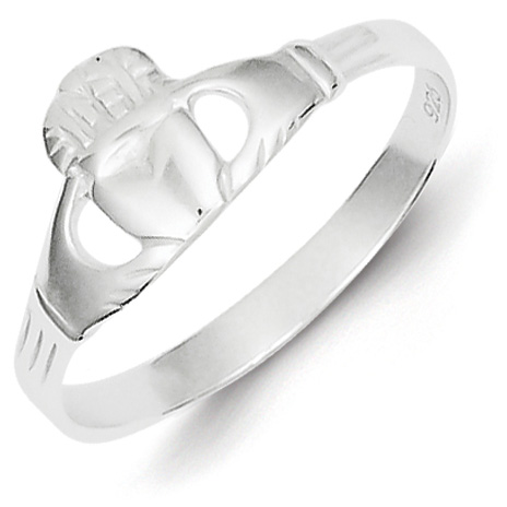 Size 8 Claddagh Ring - Sterling Silver