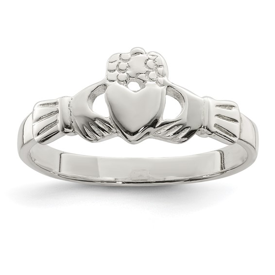 Sterling Silver Claddagh Ring - Size 8