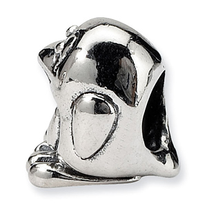Sterling Silver Reflections Kids Bird Bead