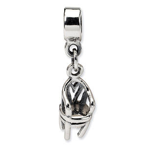 Sterling Silver Reflections Kids Chair Dangle Bead