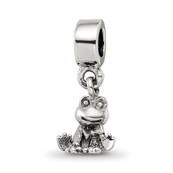 Sterling Silver Reflections Kids Frog Dangle Bead