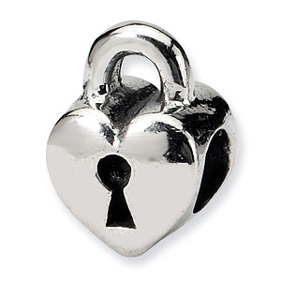 Sterling Silver Reflections Kids Heart Lock Bead
