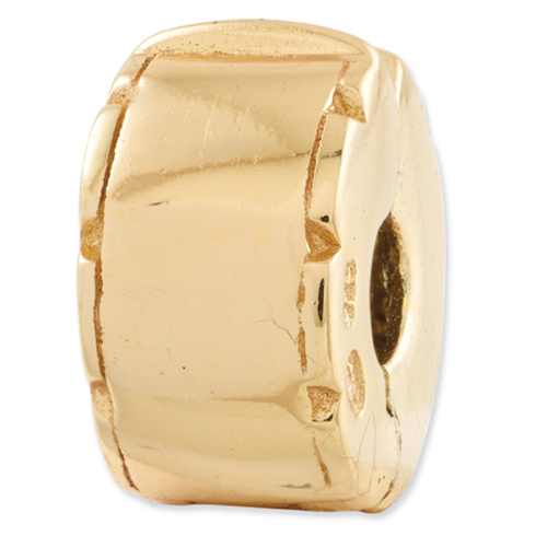 Sterling Silver Gold-plated Reflections Hinged Clip Bead