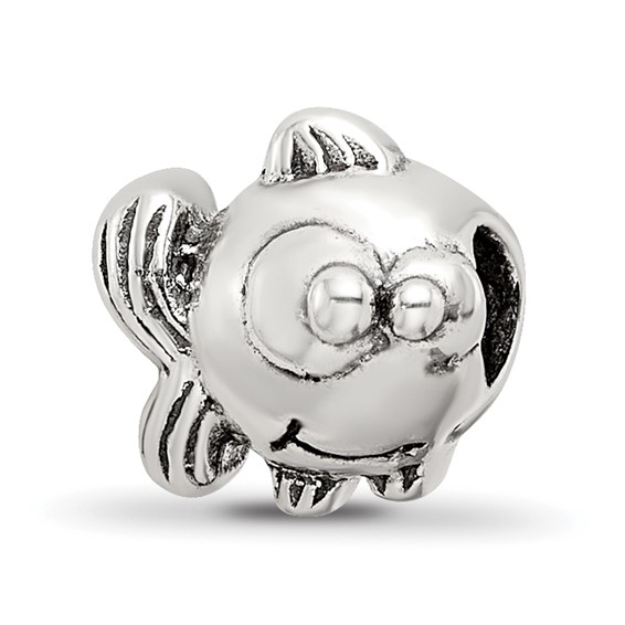 Sterling Silver Reflections Kids Fish Bead